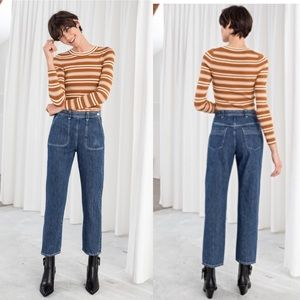 & Other Stories High Waisted Tapered Mom Jeans